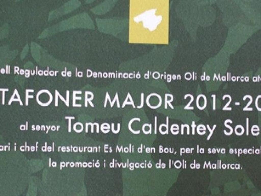 """Tomeu Caldentey, nombrado """"Tafoner Major 2012"""""""