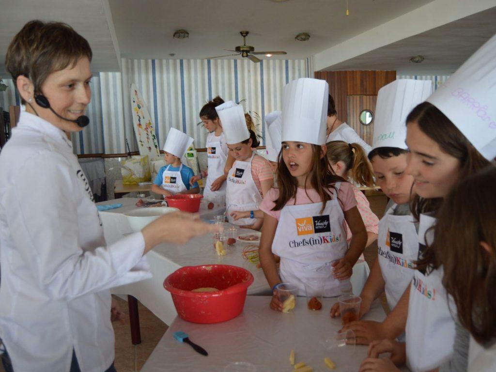 Cocina para niños en Menorca