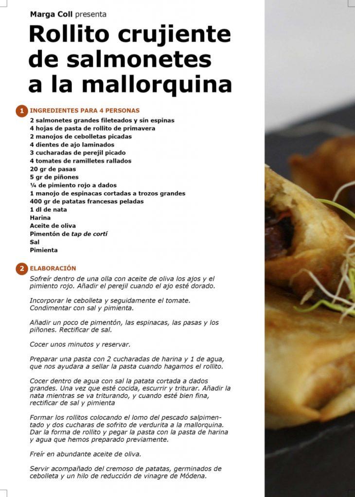 Receta - Rollito crujiente de salmonetes a la mallorquina, por Marga Coll en #algosecocinaenIKEA