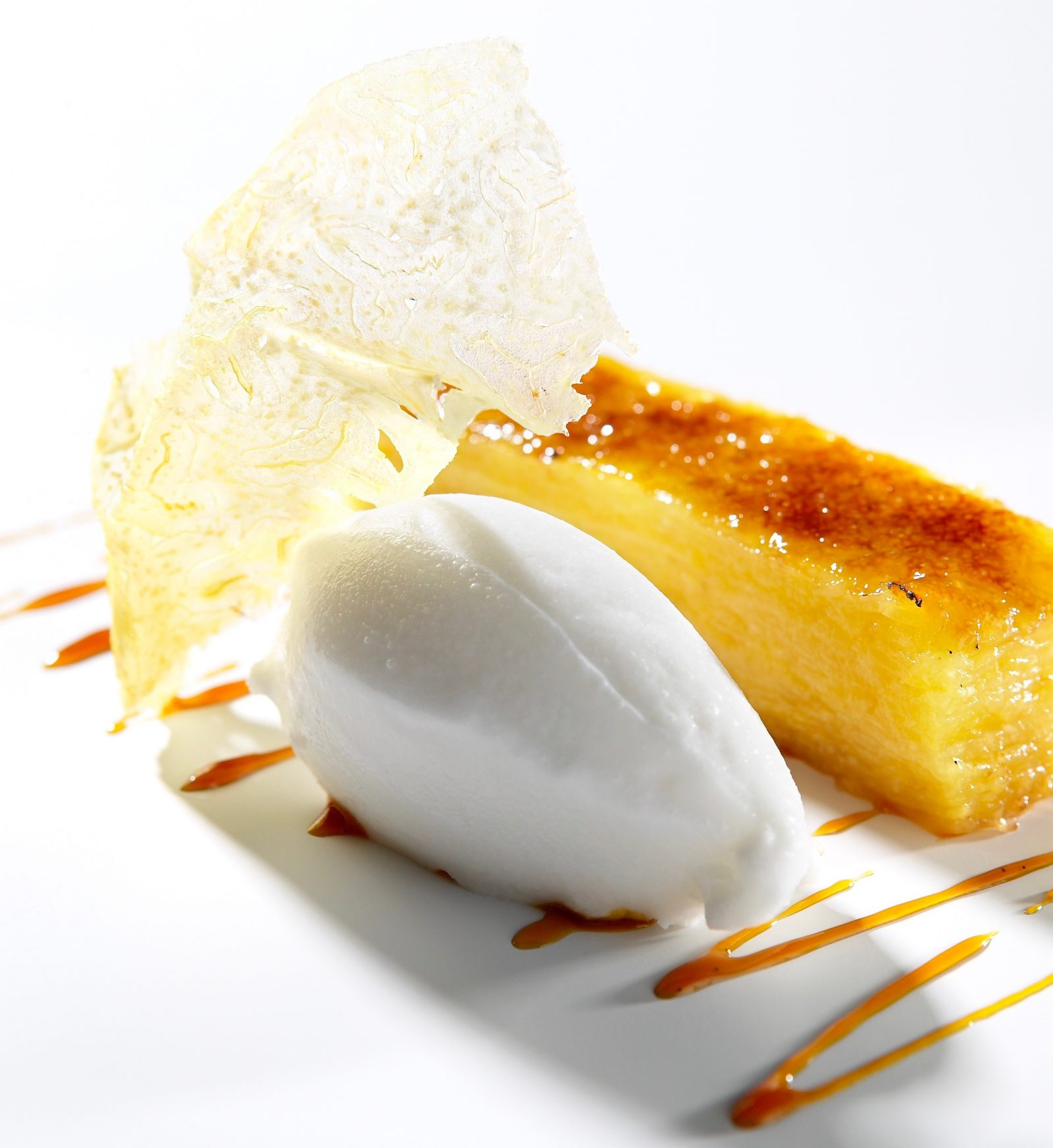 Caramelised Pineapple & Ginger Lasagne With a Coconut Sorbet (1)