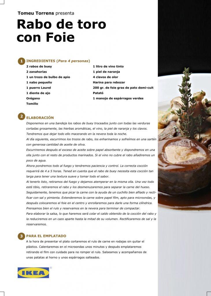 Receta - Rabo de toro con foie, por Tomeu Torrens en #algosecocinaenIKEA