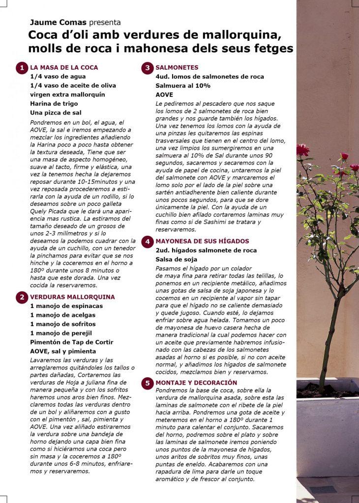 Receta - Coca de aceite con verduras y salmonete, por Jaume Comas en #algosecocinaenIKEA