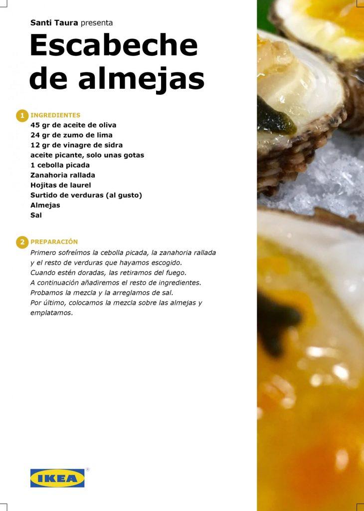 Receta - Escabeche de almenjas, por Santi Taura en #algosecocinaenIKEA