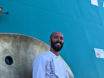 Showcooking de Óscar Torrens en alta mar