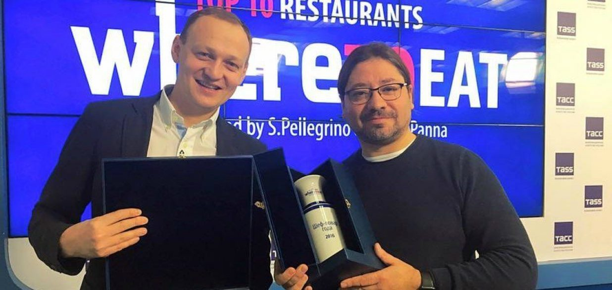 Adrián Quetglas, cocinero del año en Rusia