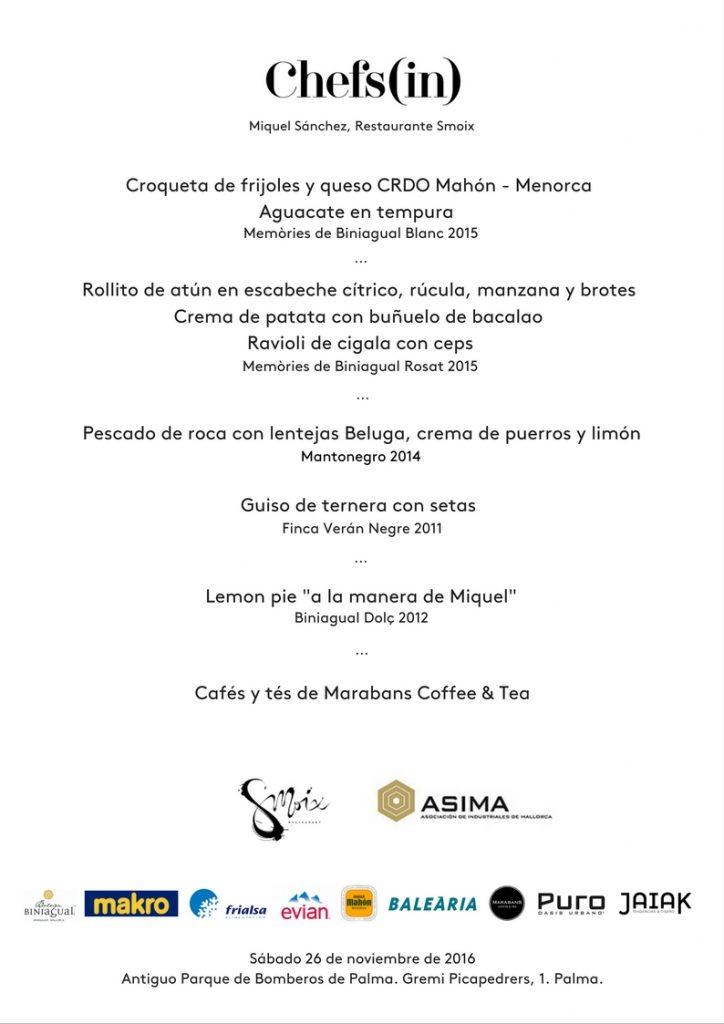 El menú del Hidden Kitchen con Miquel Sánchez