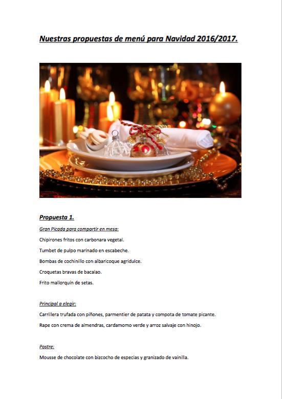 Menú Navidad 2016/2017 en Aromata Restaurante
