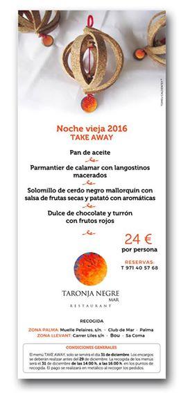 Menú día de Reyes en Taronja Negre Mar