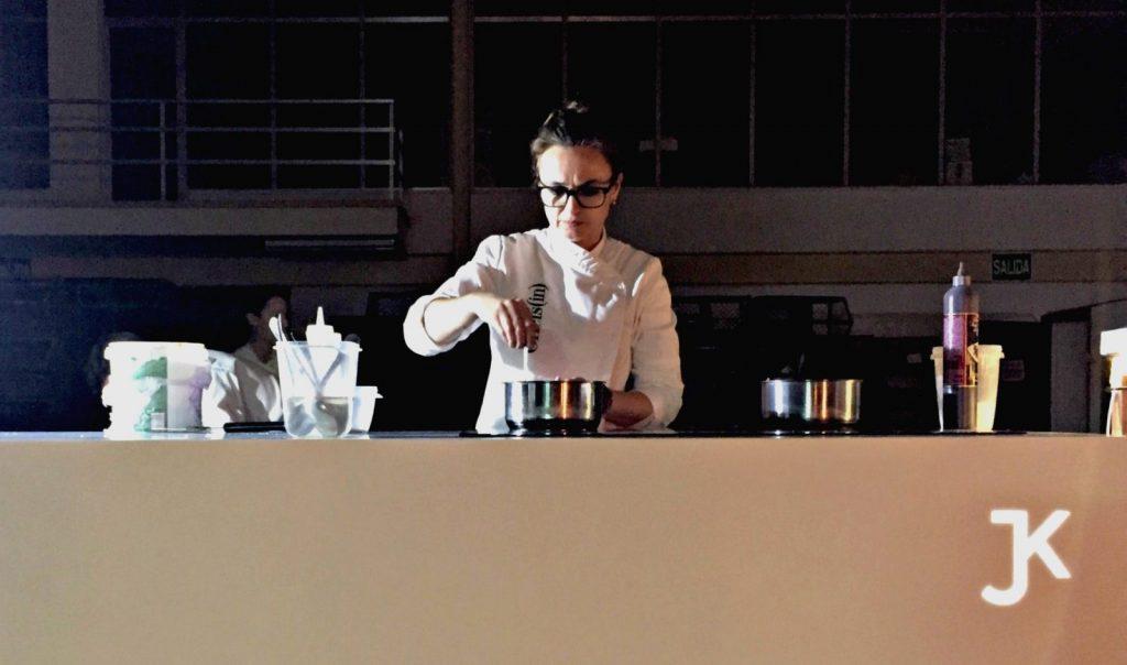 La chef Marga Coll cocinó en directo