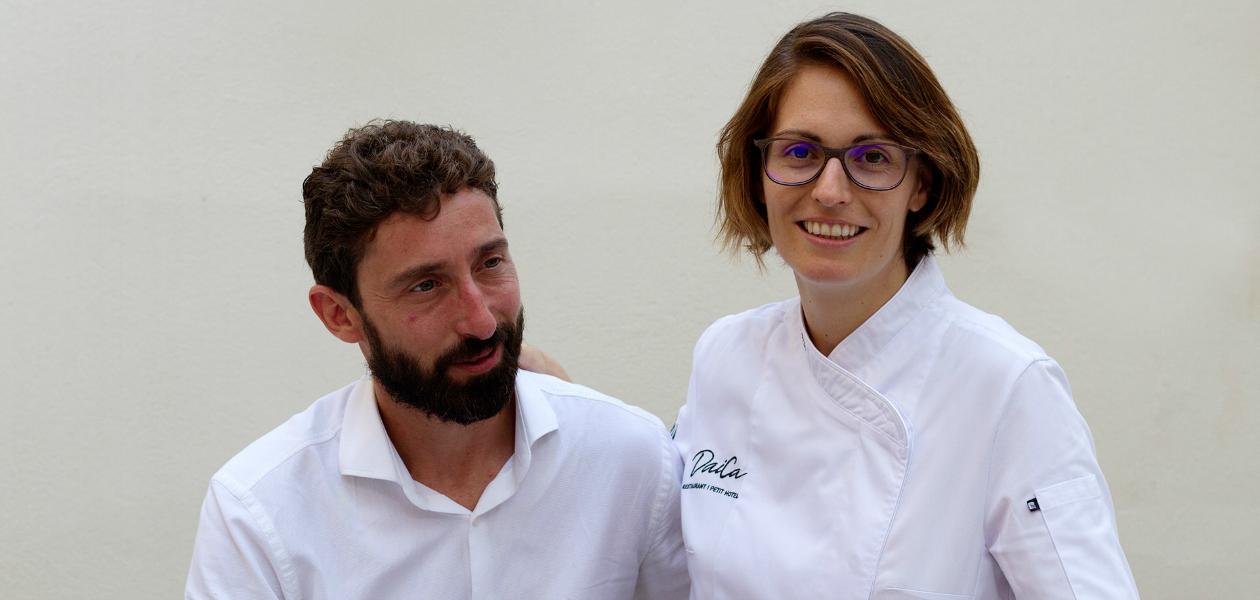 Cati Pieras y David Ribas, propietaris del restaurant Daica (Llubí, Mallorca)