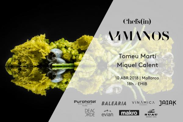 Curso Cocina a4manos con Tomeu Marti y Miquel Calent - abril 2018 - Chefsin - tienda online