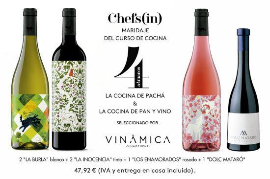 Pack maridaje de vino 2º curso A4MANOS 6ª edición