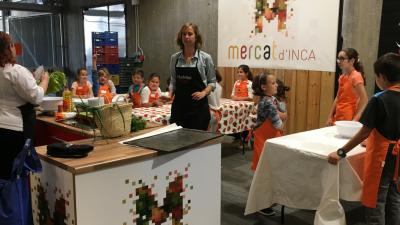 Los Chefs(in)Kids! en el Mercat d'Inca