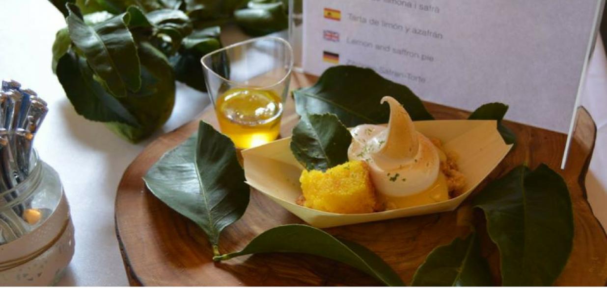 Tarta de limon y azafran, por Silvia Anglada para el Peccata Minuta de Chefsin en Menorca 2017