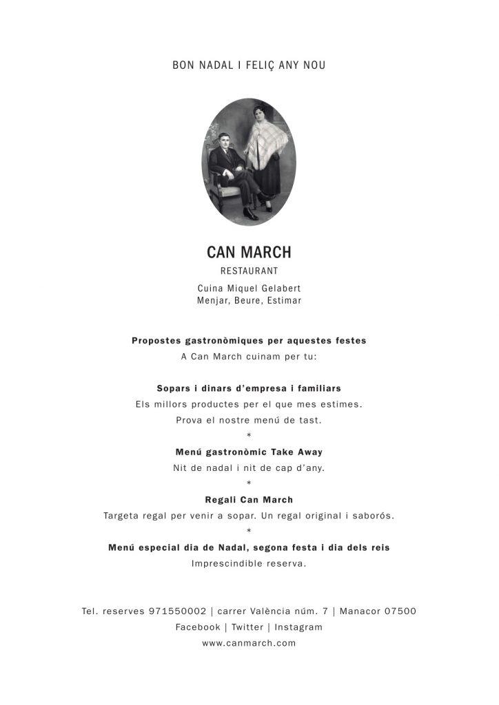 Can March - menus nadal 2017