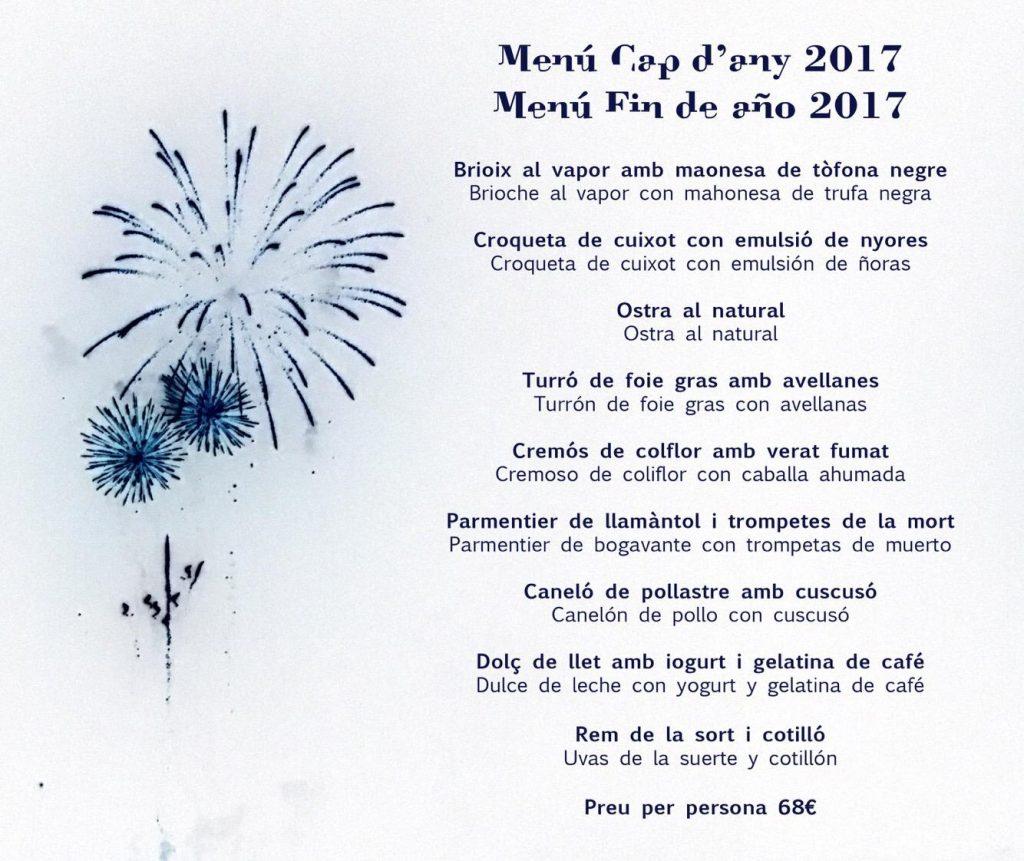 Rels Restaurant - menu nochevieja 2017