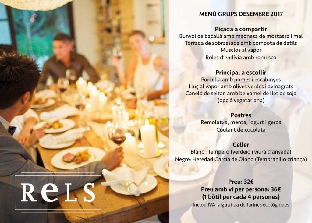 Rels Restaurant - menus grups nadal 2017
