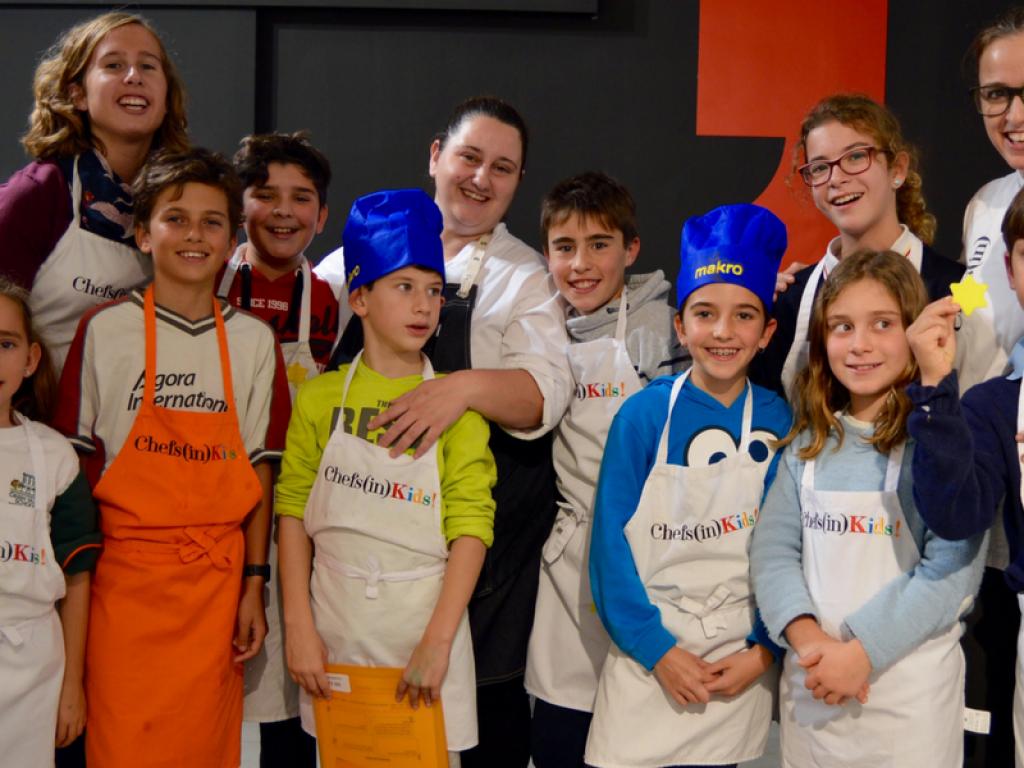 Marga Coll con los Chefs(in)Kids!