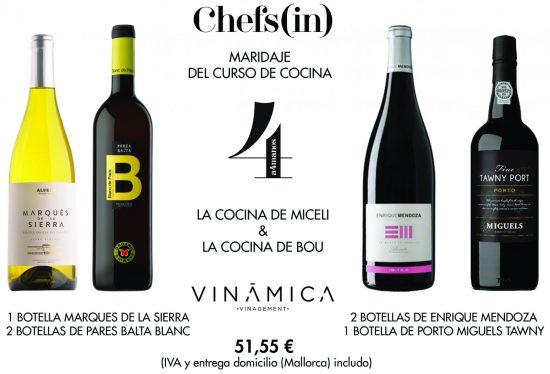 Pack maridaje de vino 3er curso A4MANOS 6ª edición
