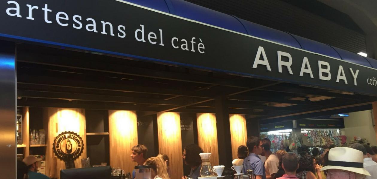 Arabay Coffee en el Mercat de l'Olivar