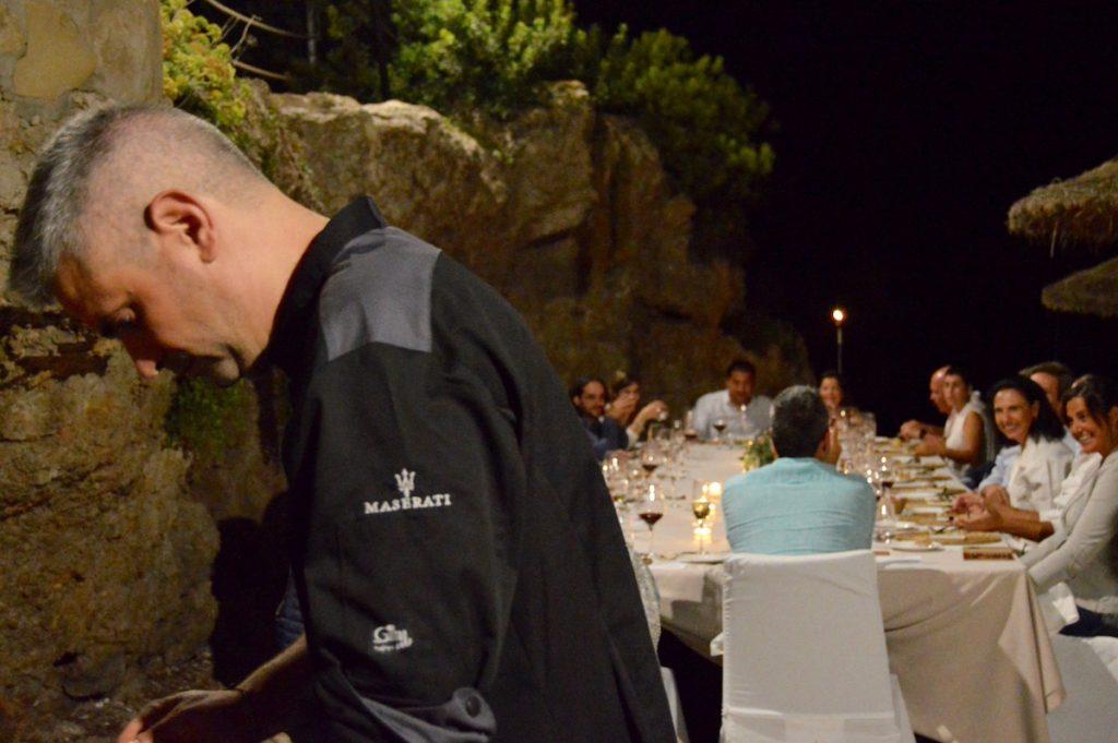 Hidden Kitchen con Miquel Sanchez en Gran Melia de Mar - Miquel trabajando