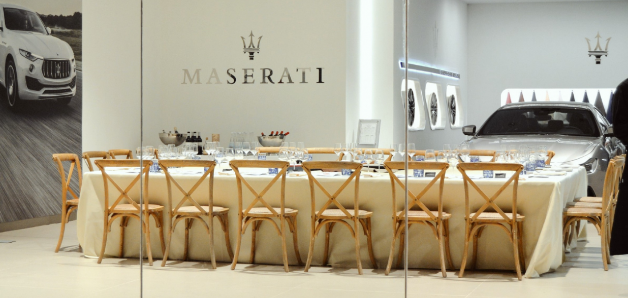 Hidden Kitchen de Chefsin con Miquel Calent en el concesionario Autovidal - Maserati Mallorca