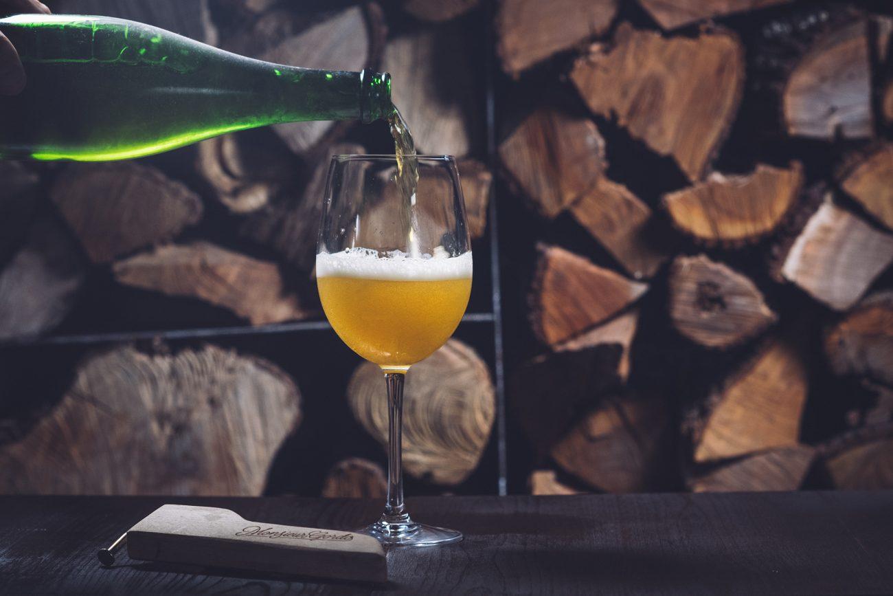 Cerveza artesanal de Brut restaurante